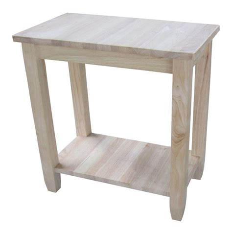 unfinished accent table international concepts solano unfinished console table ot 6a the home depot