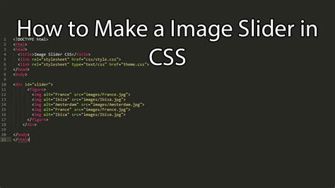 tutorial css slider how to create a image slider in css codebringer
