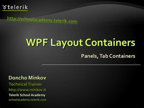Xaml Layout Containers | wpf layout containers