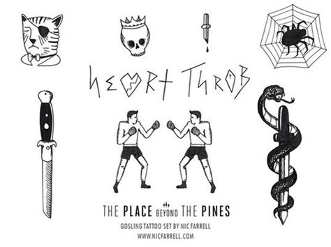 place beyond the pines tattoos flash based on gosling handsome luke s tattoos