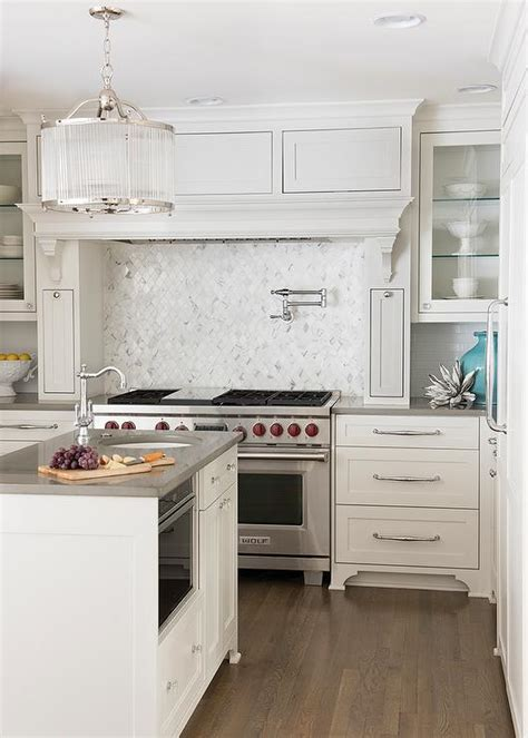 kitchen backsplash decorating ideas feature marble diamond white quartz countertops transitional kitchen tobi