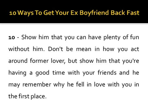 12 Ways To Get Your Boyfriend To Move In With You by 10 Ways To Get Your Ex Boyfriend Back Fast