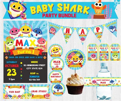 baby shark birthday party 28 best baby shark party images on pinterest baby shark