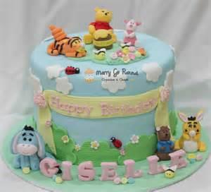 winni pooh kuchen merry go cupcakes cakes winnie the pooh