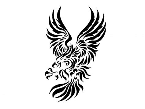 mexican eagle tattoo tribal mexican eagle tribal cliparts co
