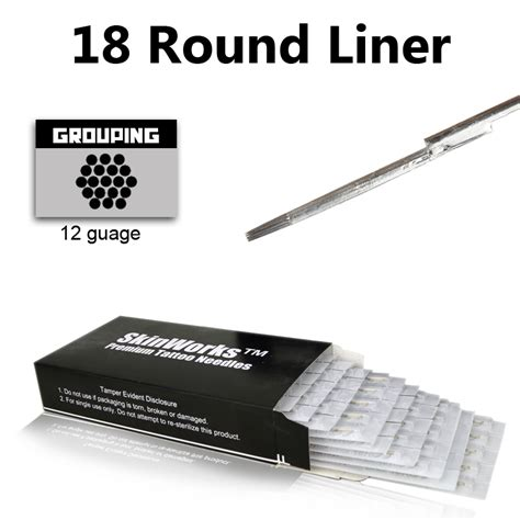 tattoo round liner tattoo needles 18 round liner 50 pack
