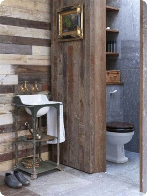 barnwood bathroom rustic shiplap cafe ideas pinterest toilets rustic