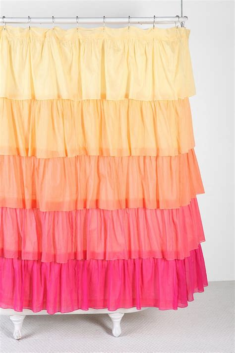 waves of ruffles shower curtain 66 best images about beachy bathrooms on pinterest