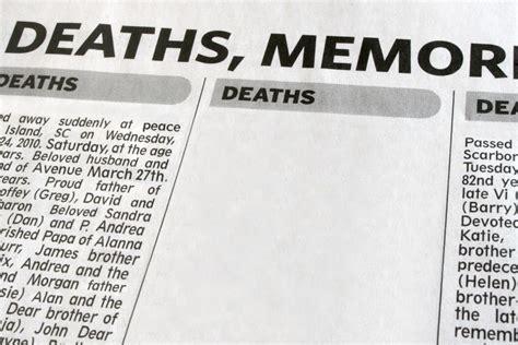 write  great obituary funeral basics