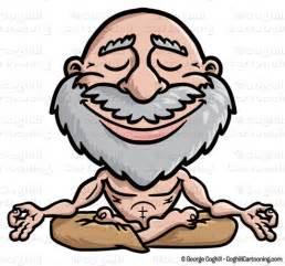 cartoon meditating guru clip art stock illustration coghill cartooning