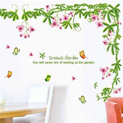 Wallpaper Dinding Murah Bukan Stiker Bunga Wall Sw115 jual dinding stiker wall sticker bunga dan tanaman