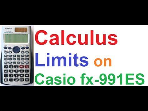 tutorial casio fx 9860gii limits using casio fx 9860gii graphing calculator