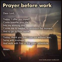prayer before prayer before work employment