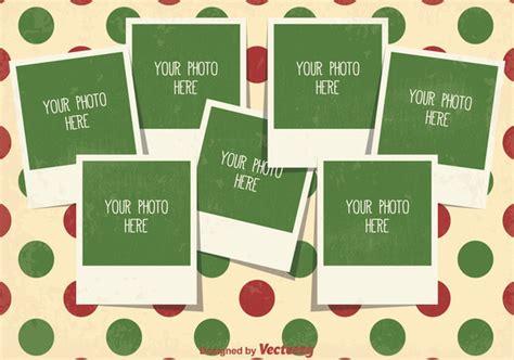 weihnachts foto collage template kostenloser vektor