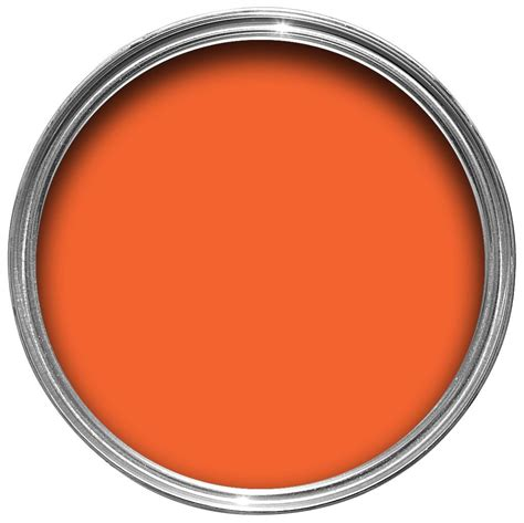 colours premium pumpkin silk emulsion paint 2 5l departments diy at b q
