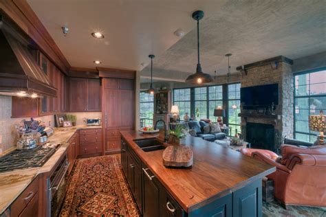 walnut island counter tops traditional kitchen distressed black walnut island countertop in rustic