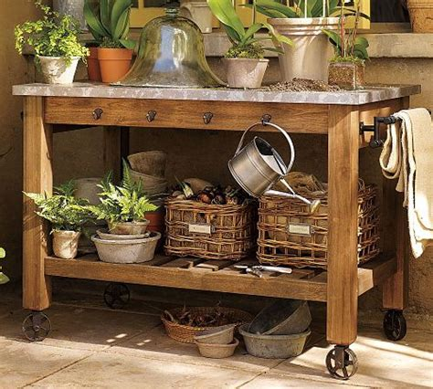 Garden Work Table by Potting Bench Work Space Inspiration One Hundred