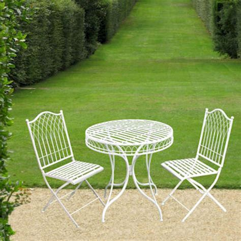 Shabby Chic Bistro Table And Chairs Shabby Chic Bistro Set Garden Furniture Set Metal Patio Garden Table And Chairs Ebay