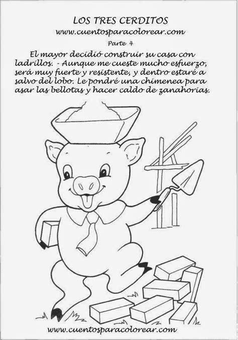 imagenes de cuentos infantiles para colorear e imprimir secuencia del cuento los tres cerditos para colorear imagui