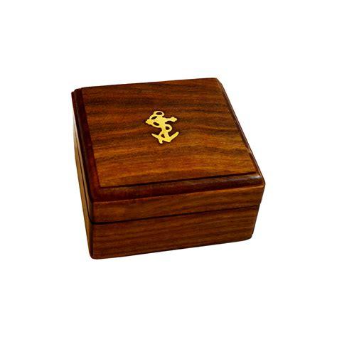 woodwork inlay brass anchor inlay sheesham wood gift box antikcart