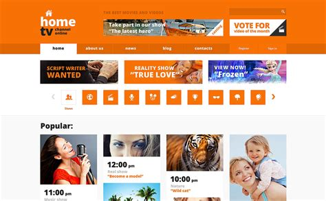 Tv Channel Responsive Website Template 50098 Tv Channel Website Templates Free