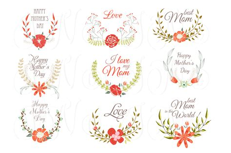hand drawn floral wreath for mather illustrations on