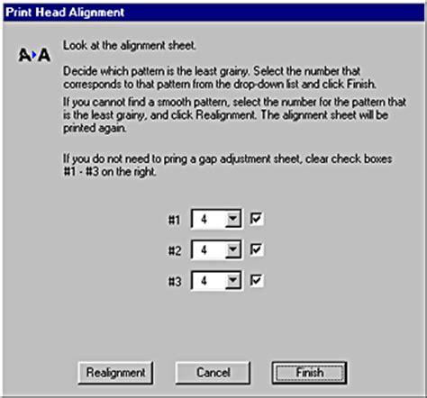 test pattern epson using the printer utilities