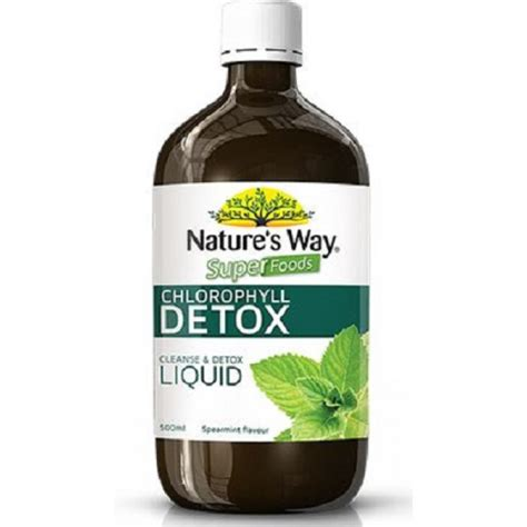 Detox Pharmacy by Nature S Way Superfoods Chlorophyll Detox Liquid 500ml