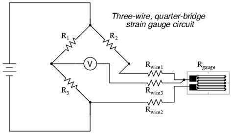 wheatstone bridge rtd exle strain gauges electrical instrumentation signals electronics textbook