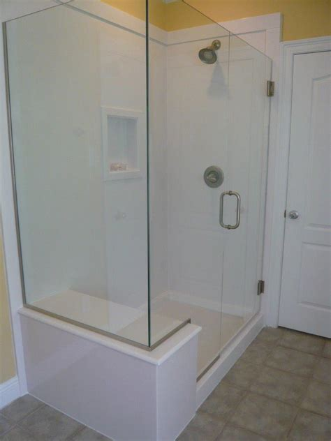 Replacing Bathtub With Glass Shower White White Cultured Replacing Shower Door Glass