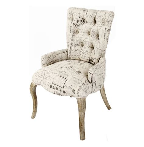 Script Armchair by Iris Tufted Vanity Dining Chair With Literary