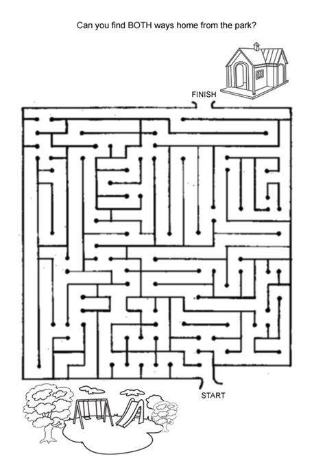 printable games hard free online printable kids games find the way home maze