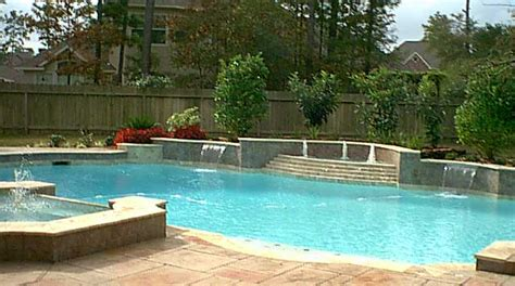 pool fountains for inground pools custom inground residential swimming pool with multiple