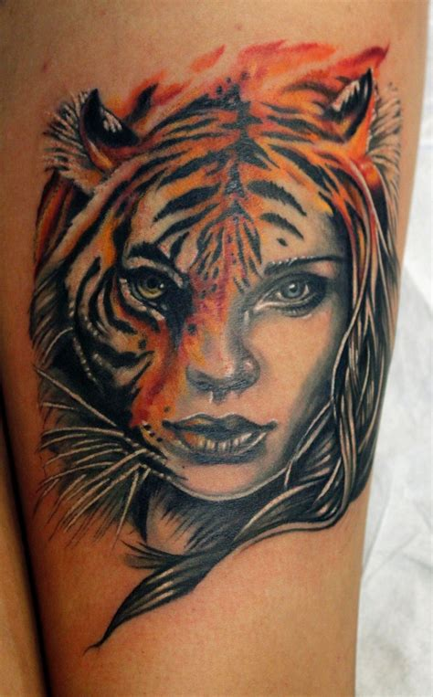 tattoo girl animal head sean ambrose certified artist