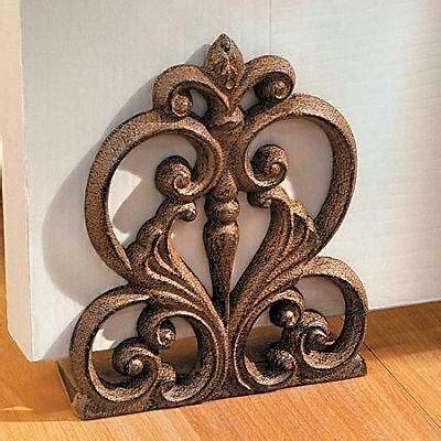 Decorative Door Stops - scroll medallion cast iron decorative door stop home decor