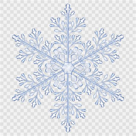 big translucent crystal snowflake stock vector image