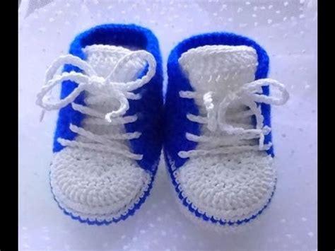 zapatos de varon tejidos zapatos tejidos a crochet para bebe varon youtube