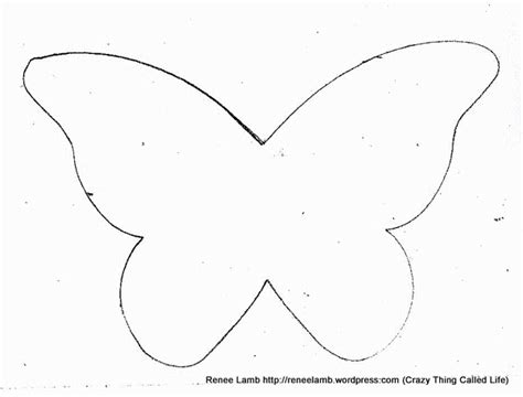 half butterfly template patterns thing called