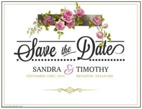 Customizable Design Templates For Save The Date Flyer Postermywall Save The Date Flyer Template