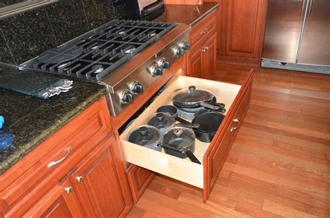 pots and pans drawer kitchen cabinet accessories custom cabinets kitchen