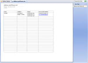 Name And Address List Template Best Photos Of Microsoft Office Phone Directory Templates
