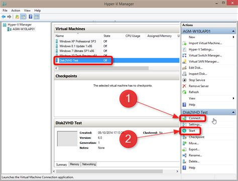 windows 10 hyper v tutorial hyper v create and use vhd of windows 10 with disk2vhd