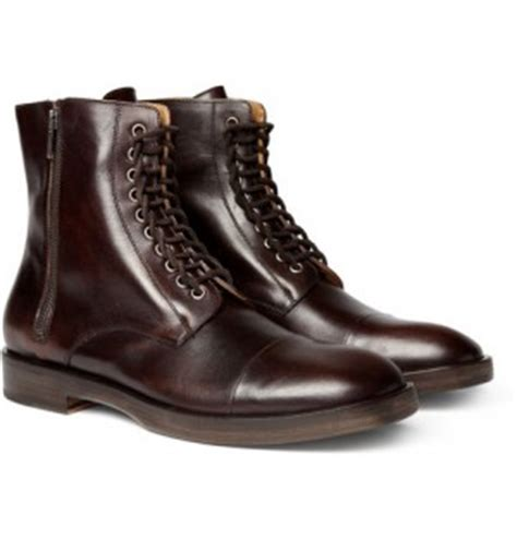Mr La Boots maison martin margiela leather lace up boots available