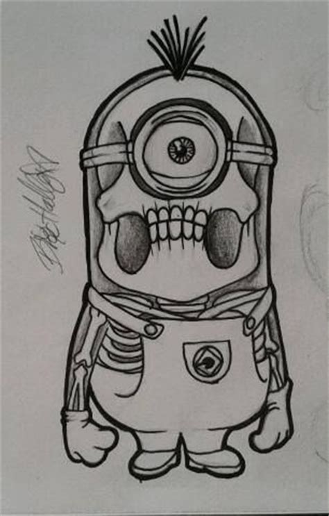 doodle minion xray minion doodle by biohally dessins
