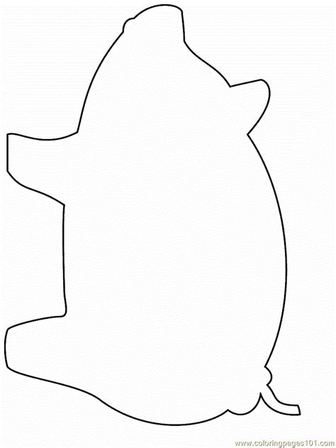 simple pig coloring page free pig not pig coloring pages