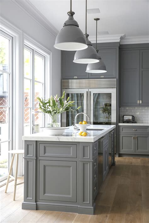 gray kitchen cabinets the only shade of gray cool kitchen ideas lonny