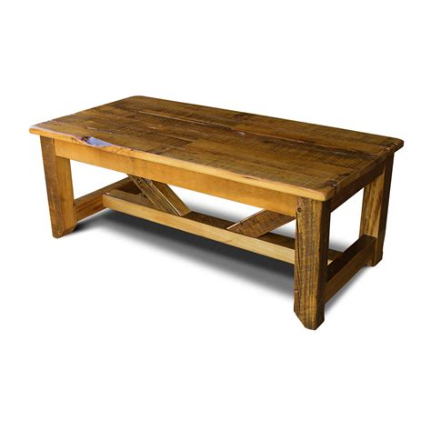 Timber Coffee Table by Industrial Timber Coffee Table No 2