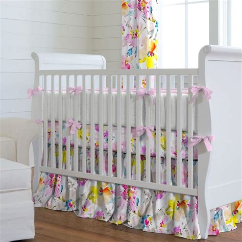 Flower Crib Bedding Watercolor Floral Crib Bedding Carousel Designs