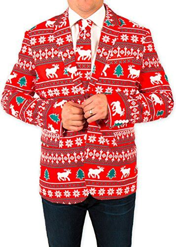 santa equality suit festified s reindeer suit coat and tie in by festified 46 for sale