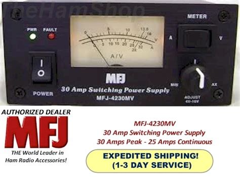 50 Mv Power Supply by Mfj 4230mv 30 Switching Power Supply With Meter 4